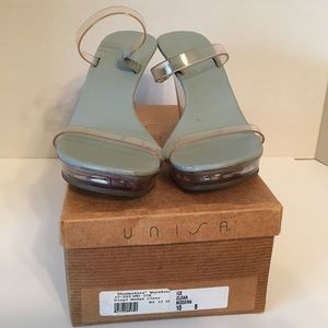 Clear Wedge Unisa Sandals SIZE 10
